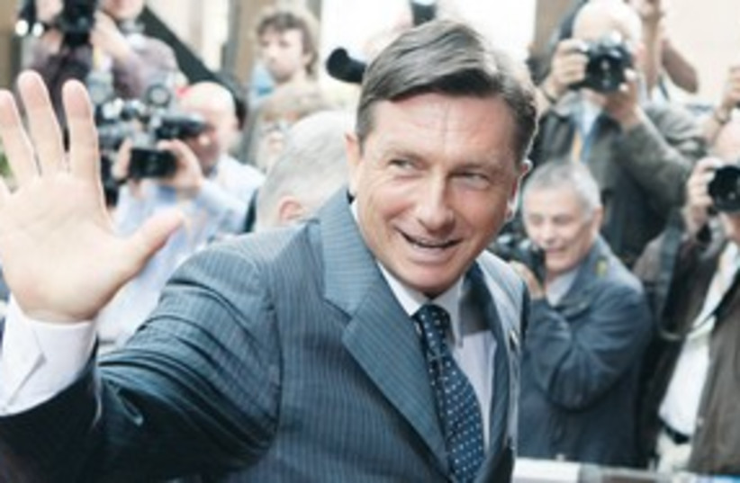 Borut Pahor, Slovenia PM (photo credit: Sebastien Pirlet/Reuters)