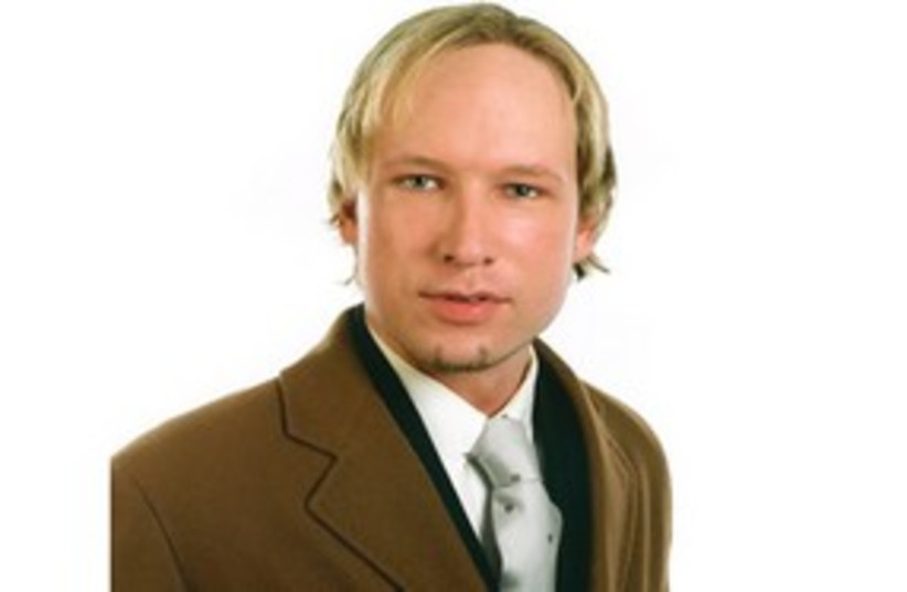 Anders Breivik (photo credit: REUTERS)