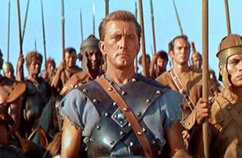 Kirk Douglas in 'Spartacus' 311 (photo credit: Courtesy)