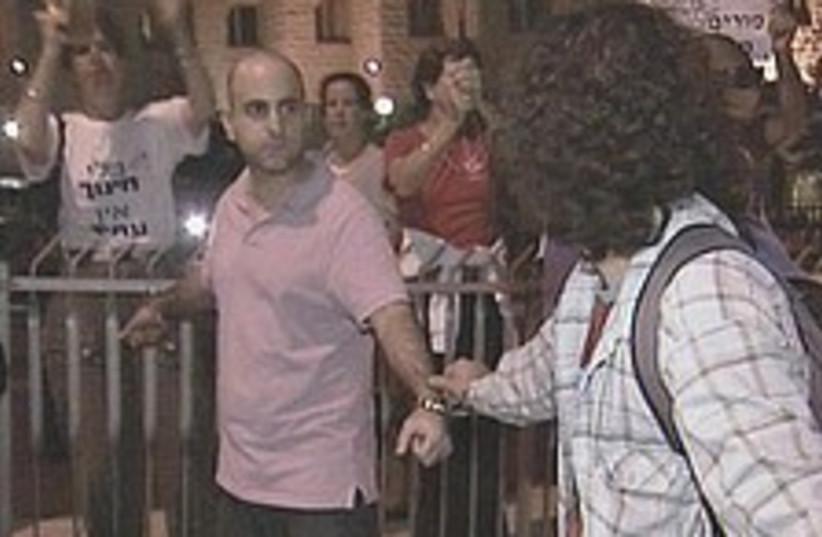 teachers strike court  (photo credit: Channel 2)
