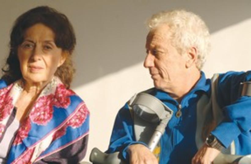 Rita Zohar and Moni Moshonov (photo credit: Tova Rogel)