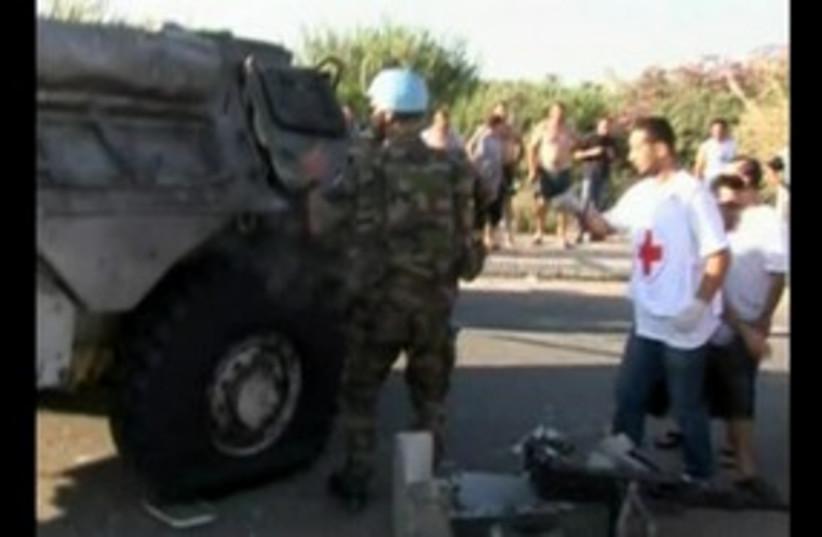 Lebanon UN bombing 311 R (photo credit: REUTERS)