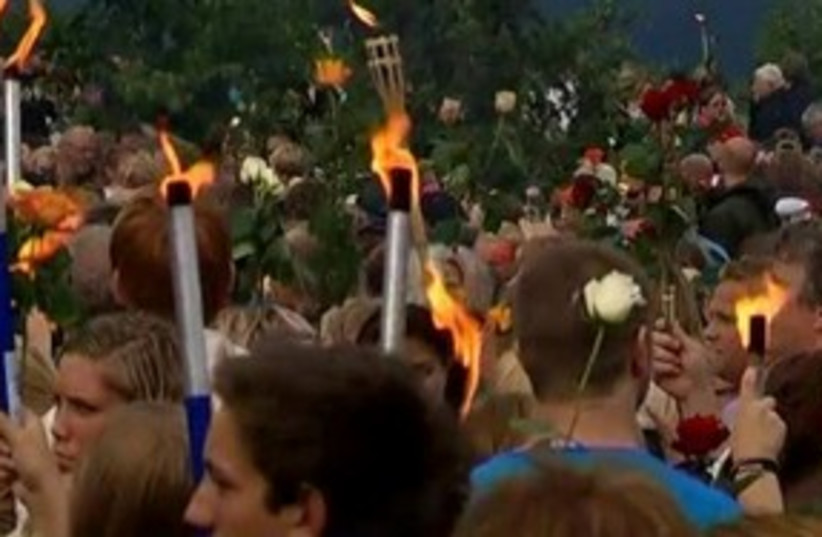 Norway torch parade 311 R (photo credit: REUTERS)