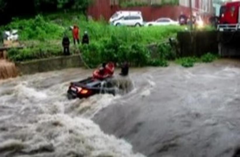 South Korea flood 311 R (photo credit: REUTERS)