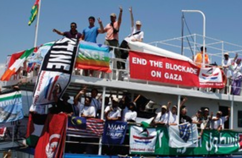 flotilla 311 (photo credit: Marko Djurica/Reuters)