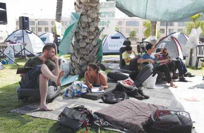 Tent protestors claim haredim are given more benefits. (photo credit: Marc Israel Sellem)