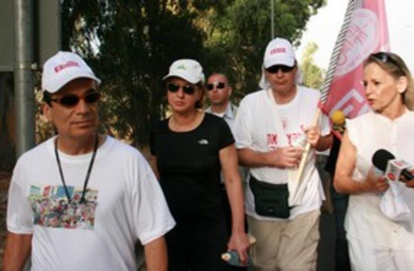 Livni on IMA march _311 (photo credit: Itzik Edri )