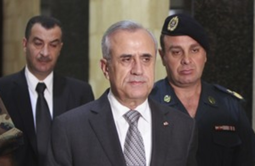Lebanese President Michel Suleiman_311 (photo credit: Reuters)