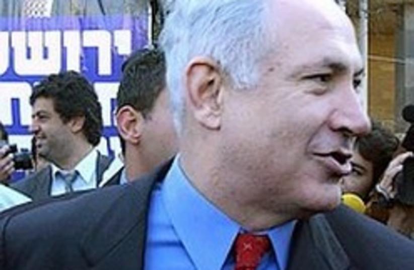 Netanyahu pouts like a chimp 248.88 (photo credit: Ariel Jerozolimski)