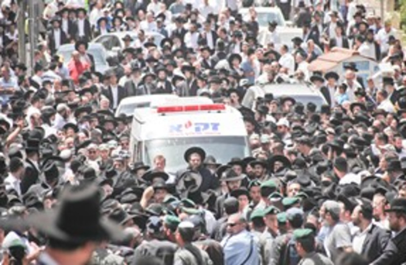 Abuchatzeira Funeral 311 (photo credit: Marc Israel Sellem)