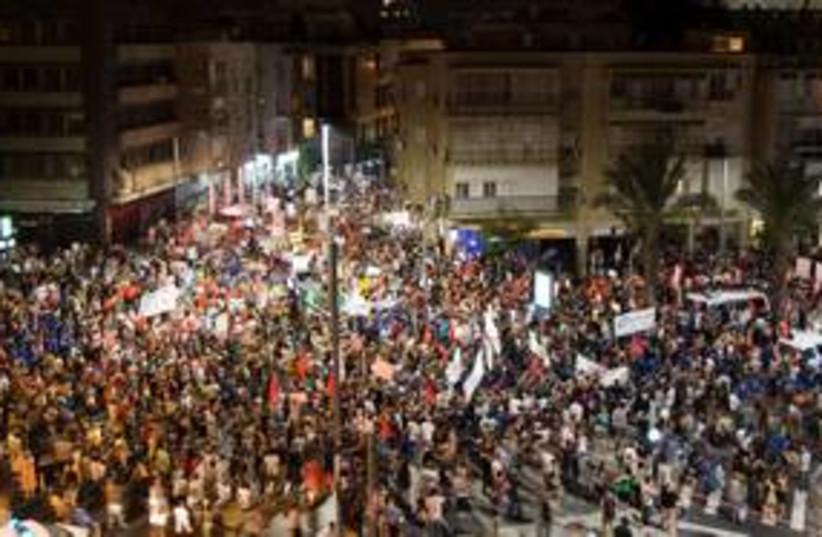 Tel Aviv protest 311 (photo credit: REUTERS/Amir Cohen)