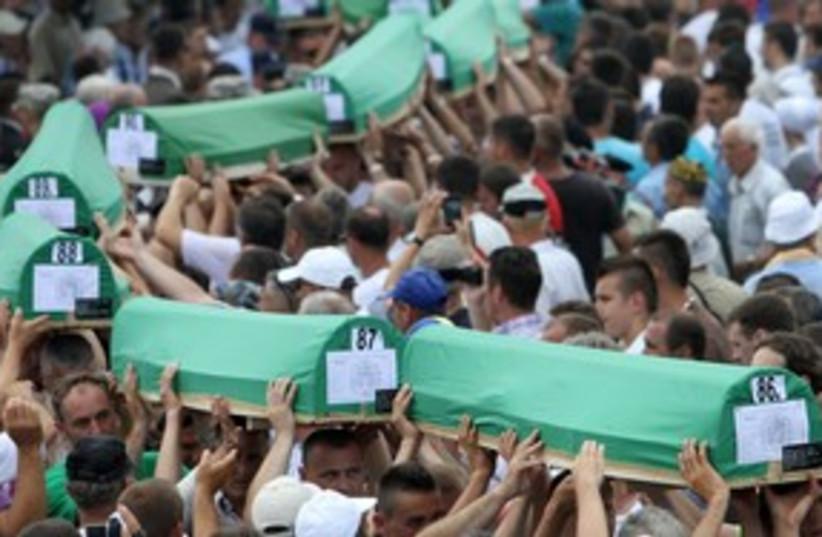 Bosnian funeral (photo credit: REUTERS/Danilo Krstanovic)
