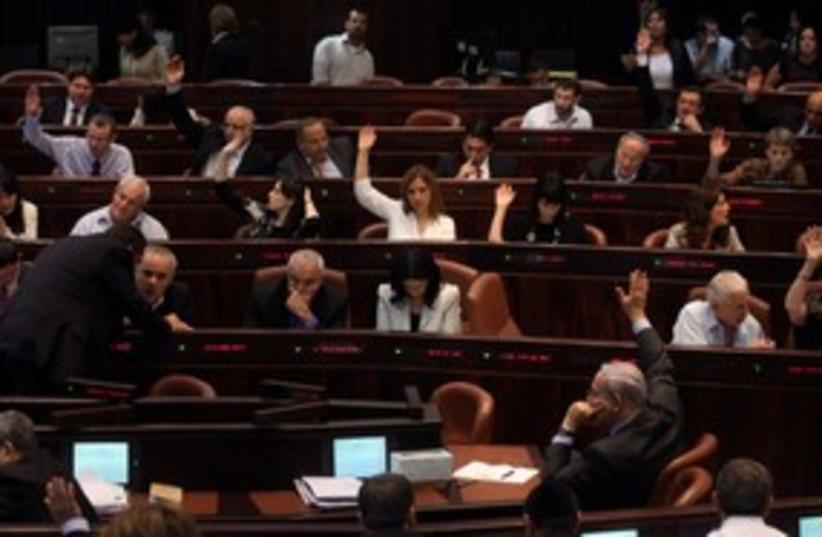 Knesset vote 311 (photo credit: Marc Israel Sellem)