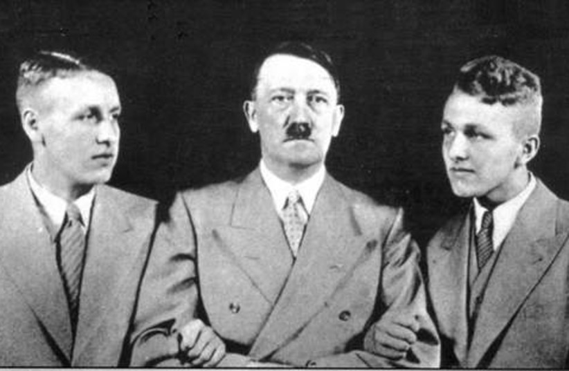 Wagner's grandsons with Hitler. (photo credit: Courtesy)