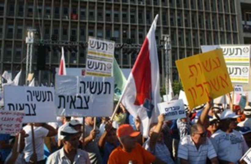 histadrut protest (photo credit: Ben Hartman)