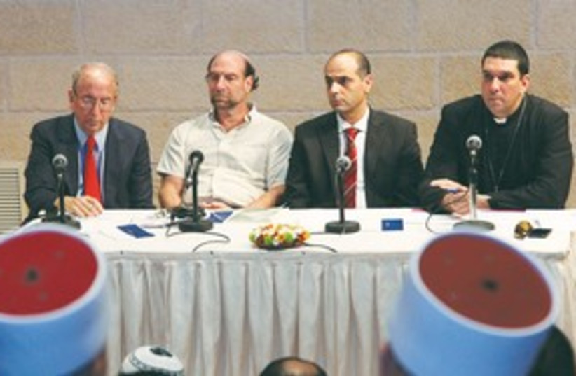 Interfaith dinner panel 311 (photo credit: Marc Israel Sellem/The Jerusalem Post)