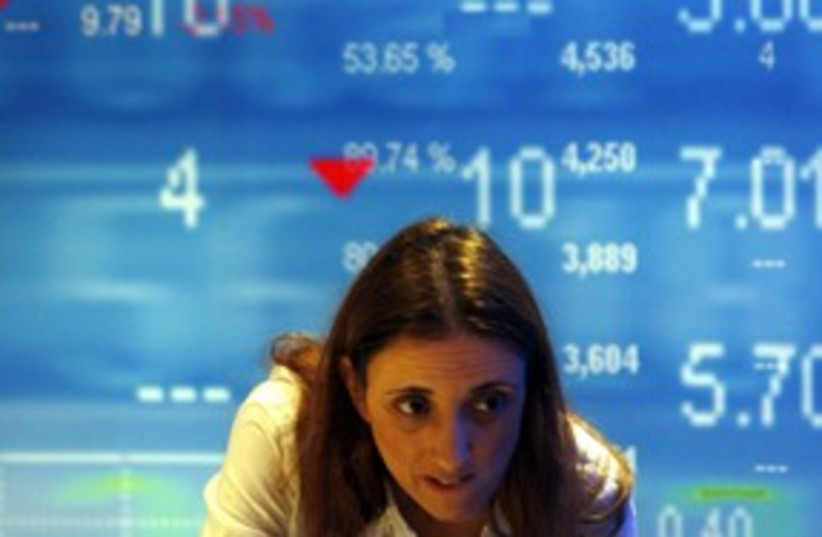 Tel Aviv Stock Exchange TASE 311 (R) (photo credit: Gil Cohen Magen / Reuters)