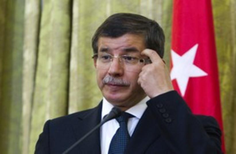 Turkish Foreign Minister Ahmet Davutoglu (photo credit: Raheb Homavandi / Reuters)