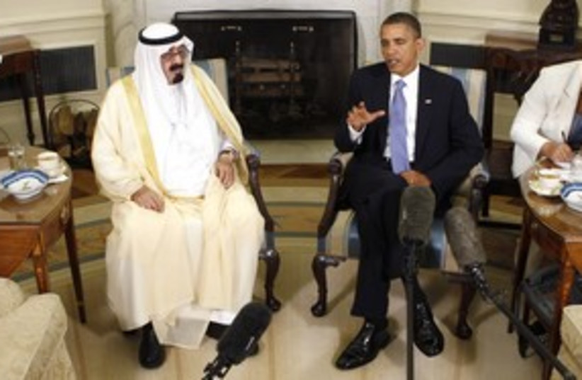 Obama Saudi Abdullah 311 (photo credit: REUTERS)