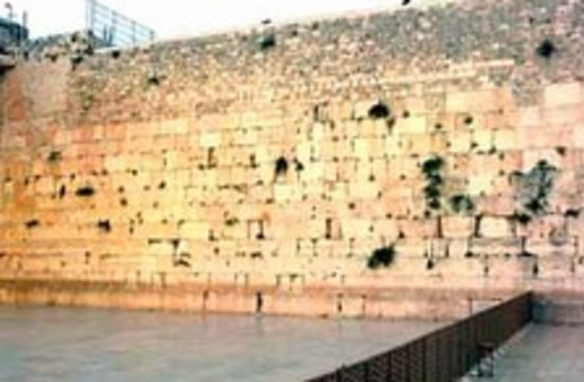 western wall 224.88 (photo credit: Ariel Jerozolimski)
