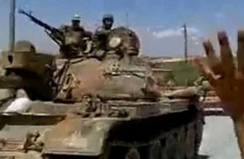 Syrian Tank 311 (photo credit: REUTERS)