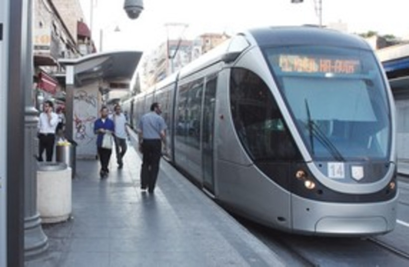 Jerusalem light rail 311 (photo credit: Marc Israel Sellem)