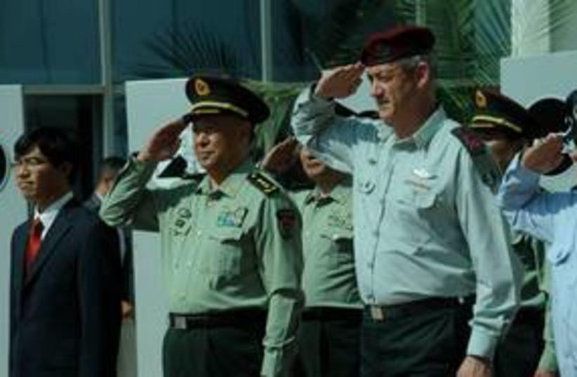 Israeli and Chinese chiefs of General Staff 311 (photo credit: IDF Spokesman)