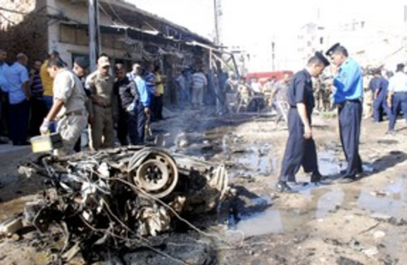 Bomb attack in Kut 311 (photo credit: REUTERS)