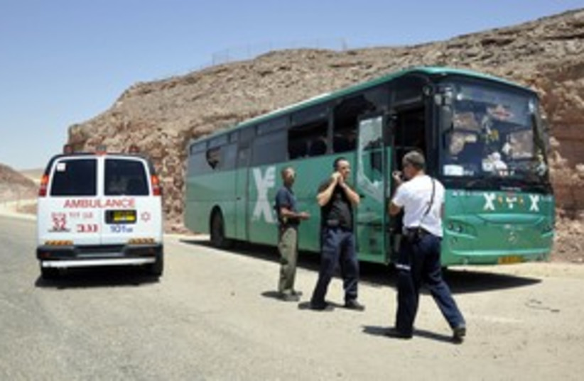 Egged bus attacked 311 R (photo credit: REUTERS/Lior Grundman)