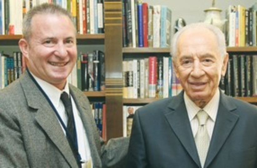 Peres and Linde 311 (photo credit: Marc Israel Sellem)