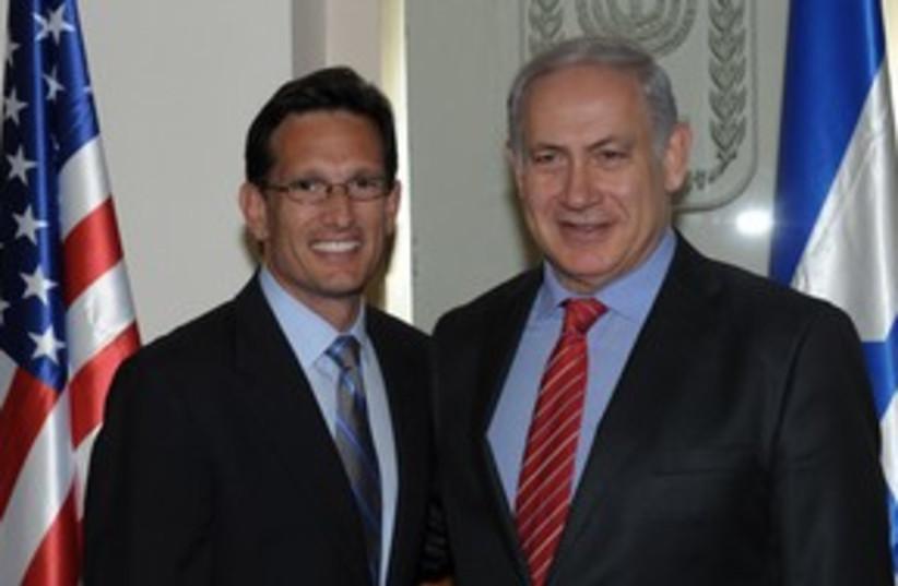 Netanyahu with Majority Leader Eric Cantor 311 (photo credit: Amos Ben Gershom/GPO)
