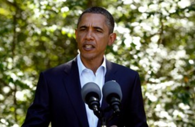 Obama making speech 311 (photo credit: REUTERS/Kevin Lamarque)