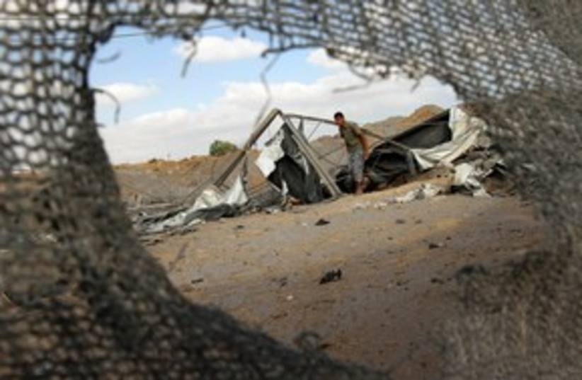 Gaza Tunnel Destroyed 311 (photo credit: REUTERS)