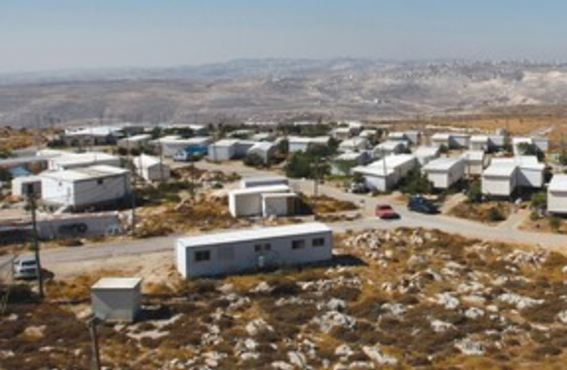 Migron outpost aerial_311 (photo credit: Baz Ratner / Reuters)