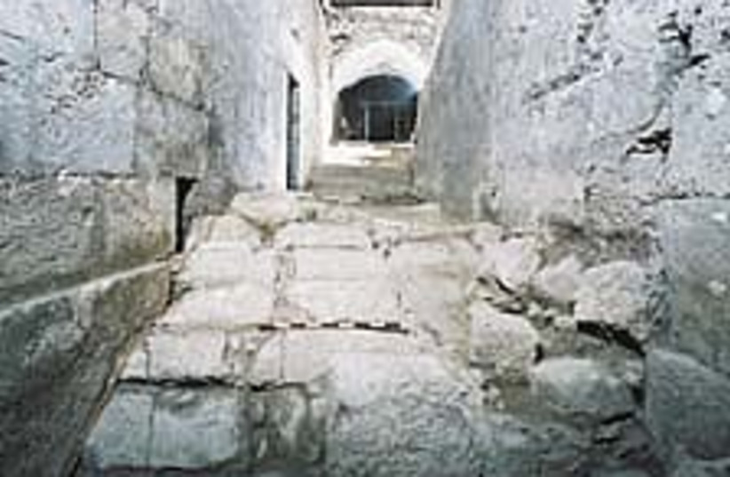 Roman road 224.88 (photo credit: Western Wall Heritage Fund)