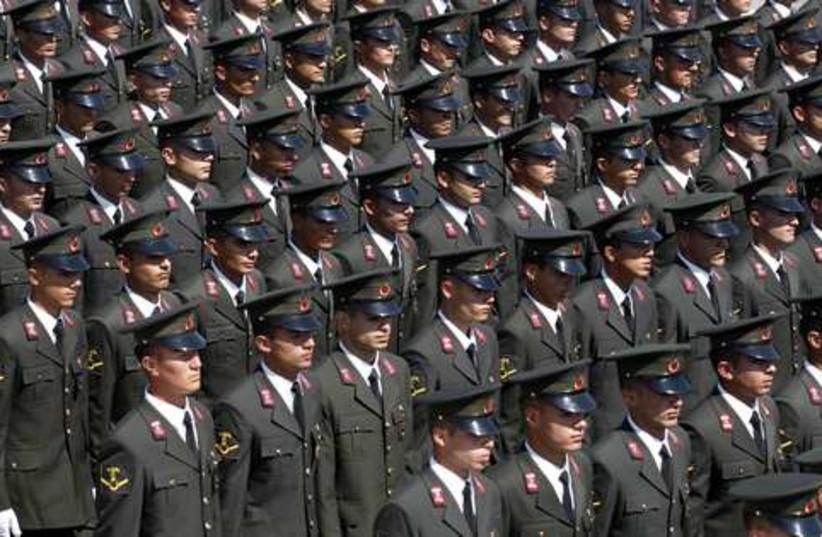 Turkish army Victory Day 521 (photo credit: REUTERS/Umit Bektas)