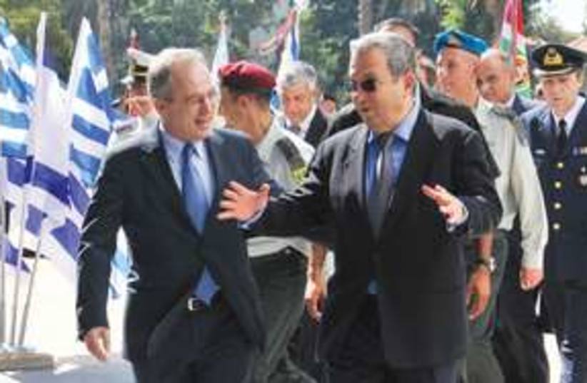 Barak and Panagiotis Beglitis 311 (photo credit: Ariel Hermoni/Defense Ministry)