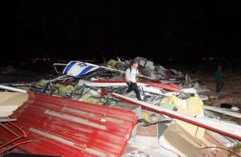 Migron Demolition 311 (photo credit: Marc Israel Sellem)