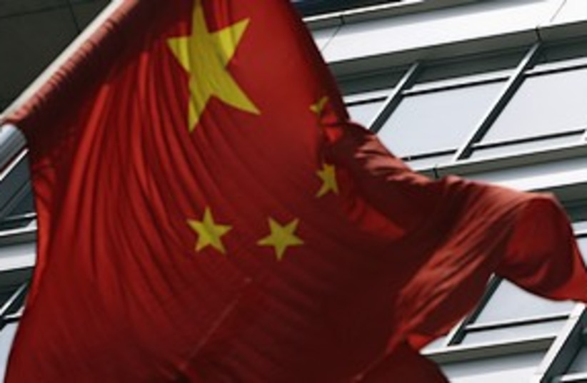 china flag 311 (photo credit: Jason Lee / Reuters)