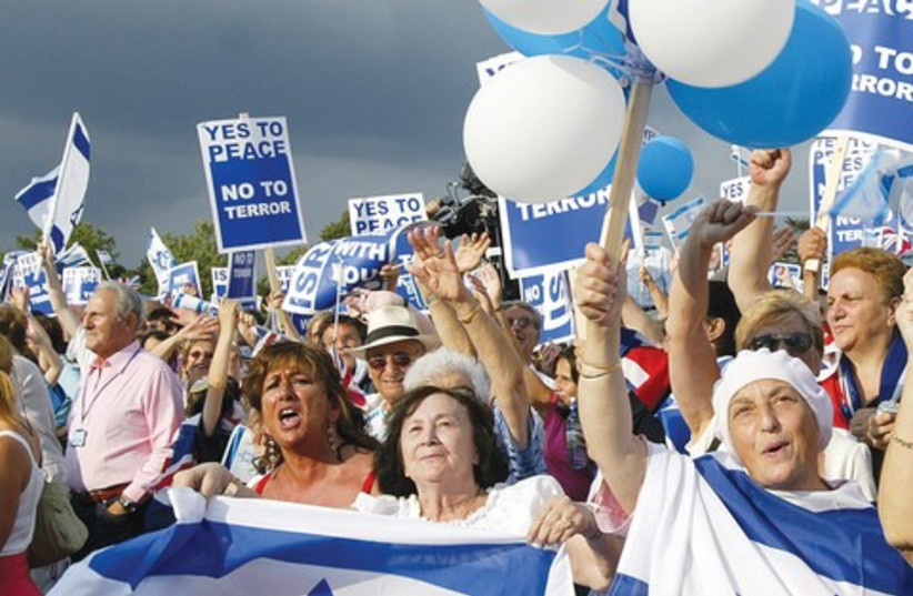 London rally for Israel 521 (photo credit: REUTERS)
