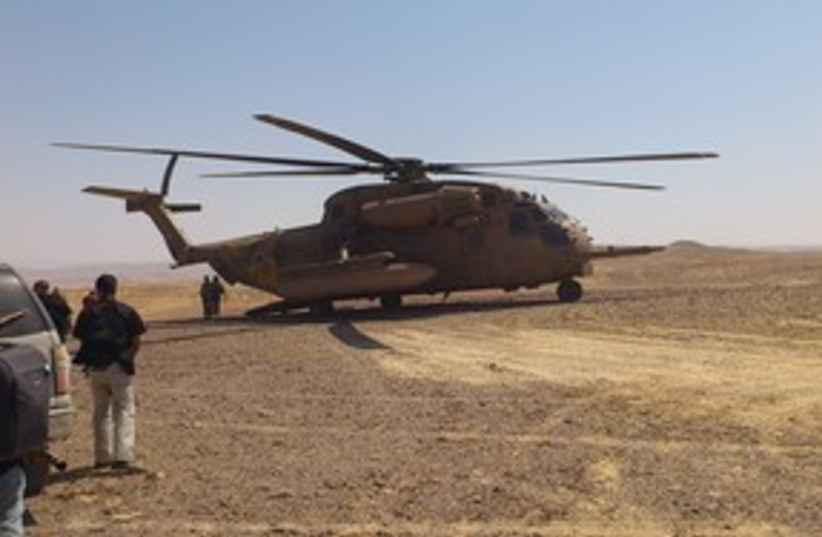 Helicopter Egypt Border 311 (photo credit: Herb Keinon)