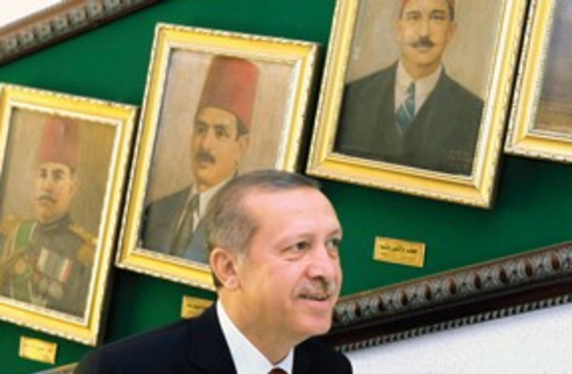 Erdogan arrives in Cairo_311 (photo credit: Reuters)