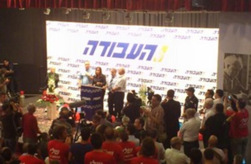 Shelly Yacimovich at Labor HQ 311 (photo credit: Gil Hoffman)
