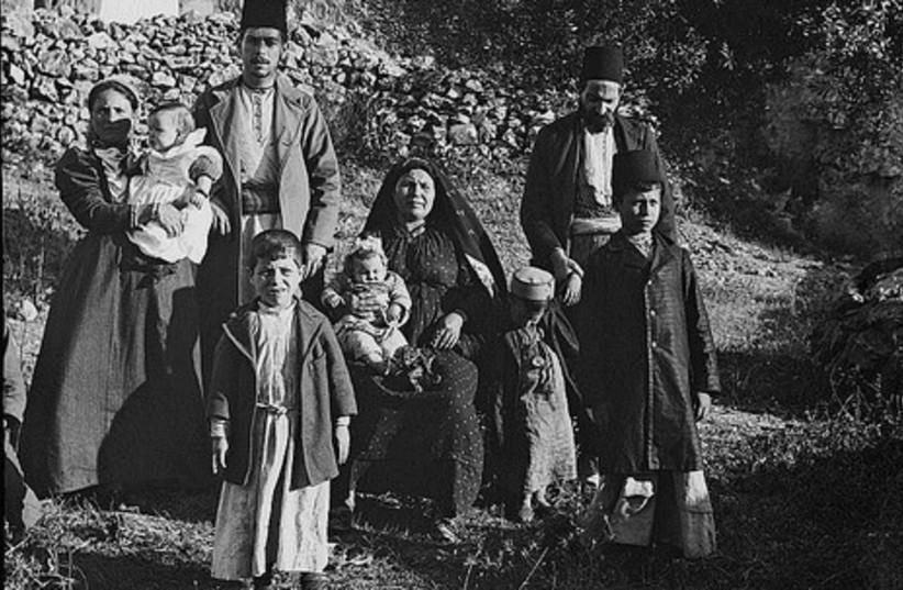 """Group of Ashkenazim Jews"" 1900 not GALL (photo credit: American Colony-Jerusalem-Photo Dept.)"