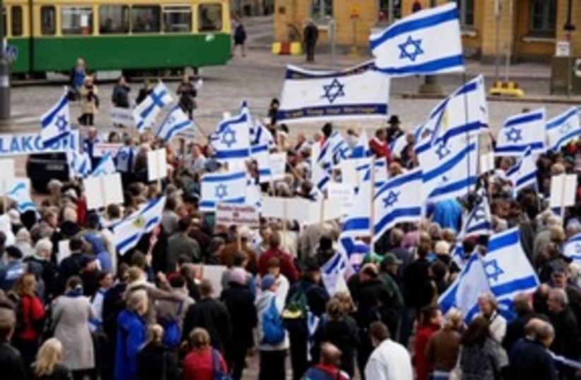 Finland pro Israel rally 311 (photo credit: Martti Kortelainen)