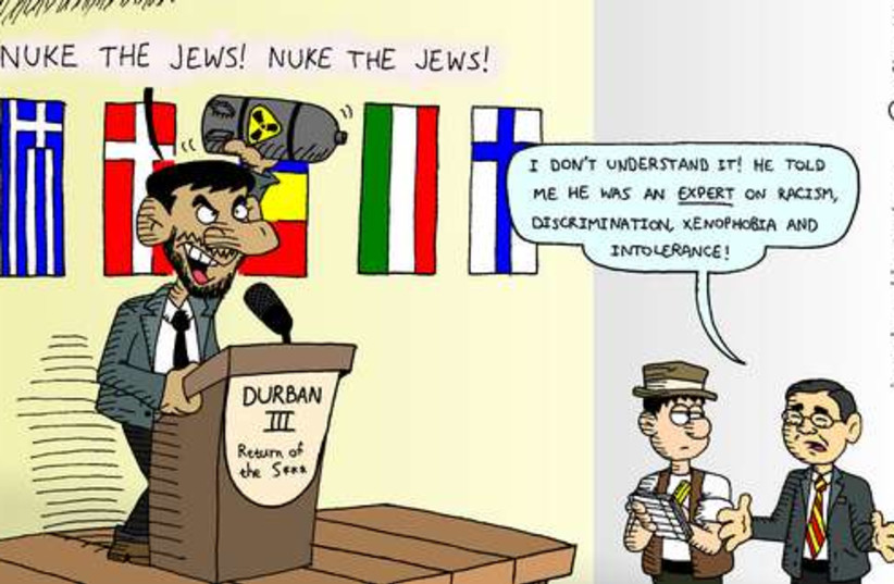 Durban III Cartoon 521 (photo credit: Menachem Jerenberg)