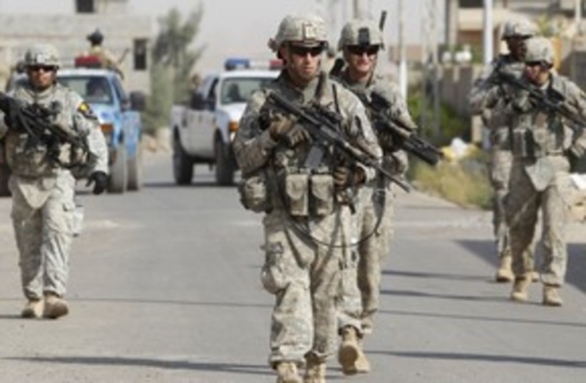 US soldiers in Iraq 311 (R) (photo credit: Saad Shalash / Reuters)