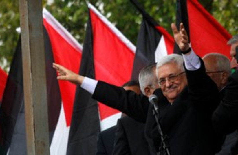 Abbas Ramallah Rally 311 (photo credit: REUTERS)