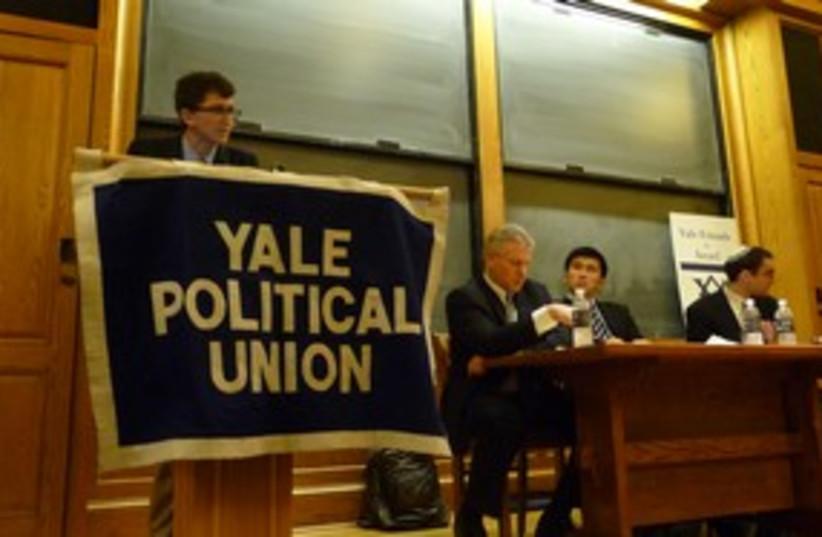 Yale Political Union votes against PA UN bid 311 (photo credit: Sam Greenberg)