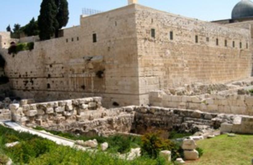 Southern steps in Jerusalem 311 (photo credit: Wayne Stiles)